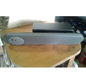 Подлокотник на дверь с бардачком и подстаканником (серый) Газель