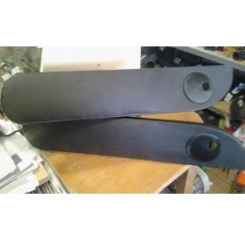 Подлокотник на дверь с подстаканником (черный+перфорированная кожа) Газель комплект