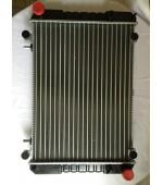 Радиатор охлаждения Газель, Соболь 406 405 409 Евро-3 дв. 3-х рядный (штыри) алюминиевый HOFER