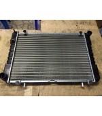 Радиатор охлаждения Газель, Соболь 406 405 409 Евро-3 дв. 2-х рядный (штыри) алюминиевый Иран